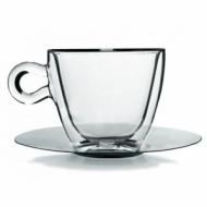 Чайная пара 300 мл. d=98, h=88 мм с двойными стенками 2 шт. Капучино Thermic Glass