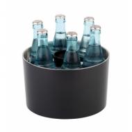 Емкость для охлаждения бутылок d=23 см. h=14 см. черная, пласт. APS