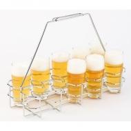 Подставка для пивных бокалов 40х16,5 см. h=29 см. нерж. APS