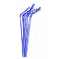 Трубочки кокт.0,5*21 см. 1000 шт. синие с гофрой MONO/12/