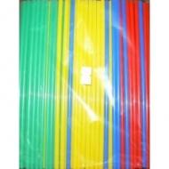 Трубочки кокт.0,5*21 см. 250 шт. цветные прямые/48/