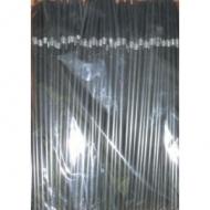 Трубочки кокт.0,5*24 см. 250 шт.черные с гофрой/48/