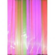 Трубочки кокт.0,5*24 см. 250 шт. флюорисц. прямые/48/