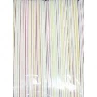 Трубочки кокт.0,5*24 см. 250 шт. полосатые прямые/48/