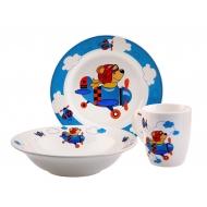 Набор посуды 3 предмета фаянс  ДЕТСТВО
