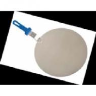 Поднос круглый d=45см. для пиццы  с пластик. ручкой Gimetal