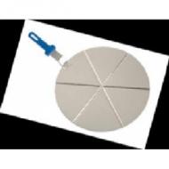 Поднос круглый d=45см. для пиццы на 8 сегментов с ручкой Gimetal