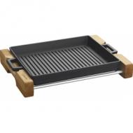 """Сковорода-гриль 260х320мм. с 2-мя ручками, чугун, черная, на подставке """"ECO"""" LAVA"""