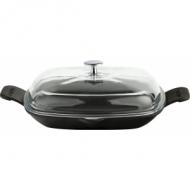 Сковорода 260х260мм. чёрная, крышка стекло LAVA
