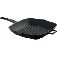 Сковорода-гриль 280х280мм. чугун, чёрная, ручка металл LAVA