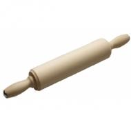 Скалка берез. L= 500 мм. с вращ. ручкой