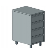 Стол-тумба  410х556х750 4 выдвижных ящика без борта Эконом