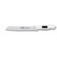 Нож для хлеба 255/375 мм черный, с волн.кромкой, HoReCa Icel