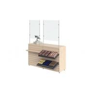 Защитный экран для кассира (оргстекло) L=600, H=1000 мм Cryspi