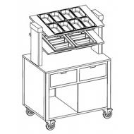 Прилавок для столовых приборов Metalcarrelli 6900.A20R