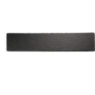 Блюдо для подачи прямоуг. 47*10 см. h=0,5 см. черное, сланец APS