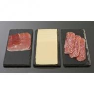 Блюдо для подачи прямоуг. 32*12 см. h=0,5 см. черное, сланец APS