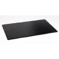 Блюдо для подачи прямоуг. 26,5*16,2 см. h=4-7 мм. (GN1/4) черное, сланец APS