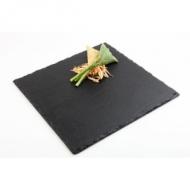Блюдо для подачи квадр. 25*25 см. черное, сланец APS