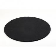 Блюдо для подачи круглое d=33 см. черное, сланец APS