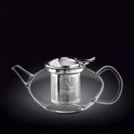 Чайник 1050 мл. заварочный стекл. с откидной крышкой и колбой нерж.Thermo Glass Wilmax
