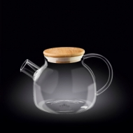 Чайник 950 мл. заварочный с дерев. крышкой Thermo Glass Wilmax