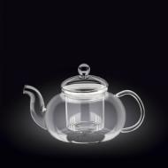 Чайник 770 мл. заварочный с колбой стекл. Thermo Glass Wilmax