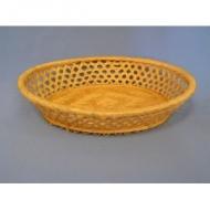 Корзина для хлеба овальная 26,5х20,5х6 см. корич-бел.