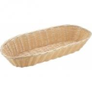 Корзина для хлеба овальная 33х13х8 см. пласт.бел./12/144/