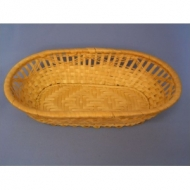 Корзина для хлеба полуовальная 24х14х5,5 см. корич.