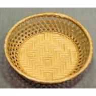 Корзина для хлеба круглая 23х6 см. корич.