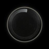 Тарелка мелкая 210 мм черная с белым Сorone Rustico