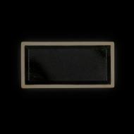 Блюдо прямоугольное 265х130 мм черное с зеленым Сorone Rustico