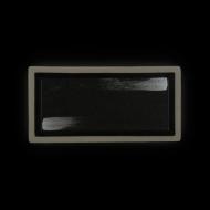 Блюдо прямоугольное 265х130 мм черное с белым Сorone Rustico