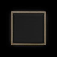 Тарелка квадратная 200 мм бежевая с черным Сorone Rustico