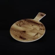 Блюдо круглое с ручкой 225 мм под дерево Сorone Rustico
