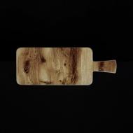 Блюдо прямоугольное с ручкой 295х177 мм под дерево Сorone Rustico
