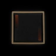 Тарелка квадратная 200 мм черная с медным Сorone Rustico