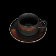 Чайная пара 265 мл черный с медным Сorone Rustico
