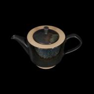 Чайник заварочный 820 мл черный с зеленым Сorone Rustico