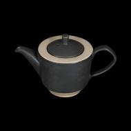 Чайник заварочный 820 мл бежевый с черным Сorone Rustico
