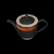 Чайник заварочный 820 мл черный с медным Сorone Rustico