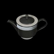 Чайник заварочный 820 мл черный с белым Сorone Rustico