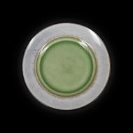 Тарелка мелкая декоративная 216 мм серый+зеленый Corone Tesoro