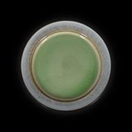 Тарелка мелкая декоративная 267 мм серый+зеленый Corone Tesoro