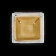 Салатник квадратный 170х170 мм серый+светло-коричневый Corone Tesoro