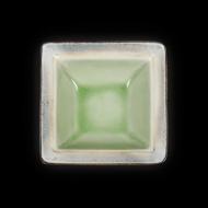 Салатник квадратный 170х170 мм серый+зеленый Corone Tesoro
