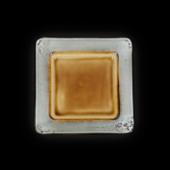 Тарелка квадратная декоративная 190х190 мм серый+светло-коричневый Corone Tesoro