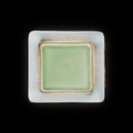 Тарелка мелкая декоративная 190х190 мм серый+зеленый Corone Tesoro