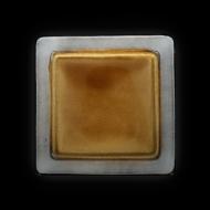 Тарелка мелкая декоративная260х260 мм серый+светло-коричневый Corone Tesoro